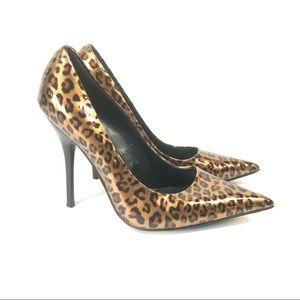 Aldo cheetah leopard animal print stiletto heels